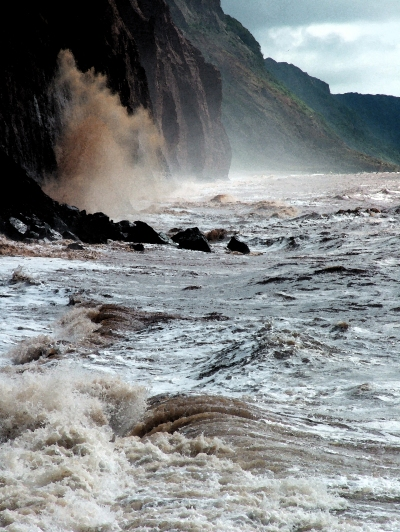 rough sea, Sidmouth